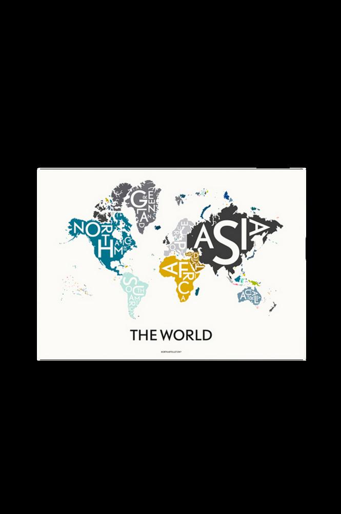 Poster The World Multi 70×100 cm