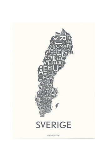 Sverige-juliste 50x70 cm