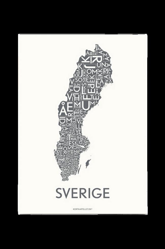 Bilde av Poster Sverige 50x70 cm