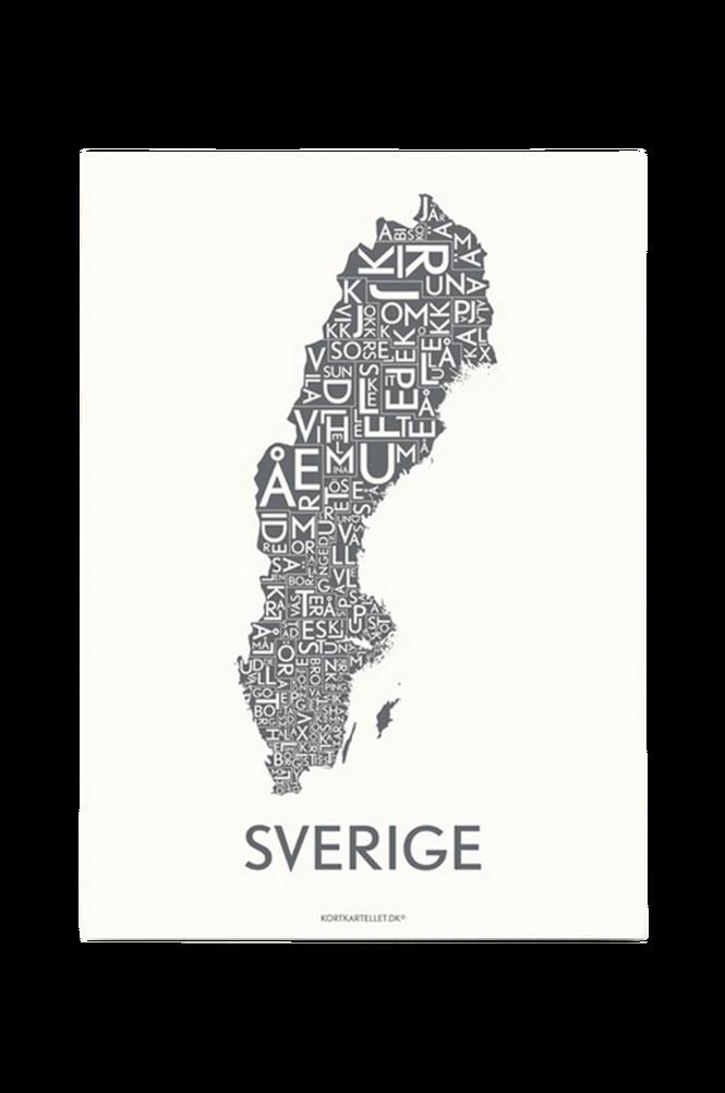 Poster Sverige 50×70 cm