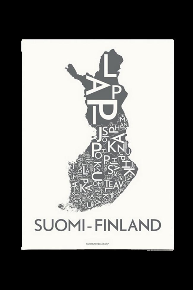 Bilde av Poster Suomi-Finland 50x70 cm