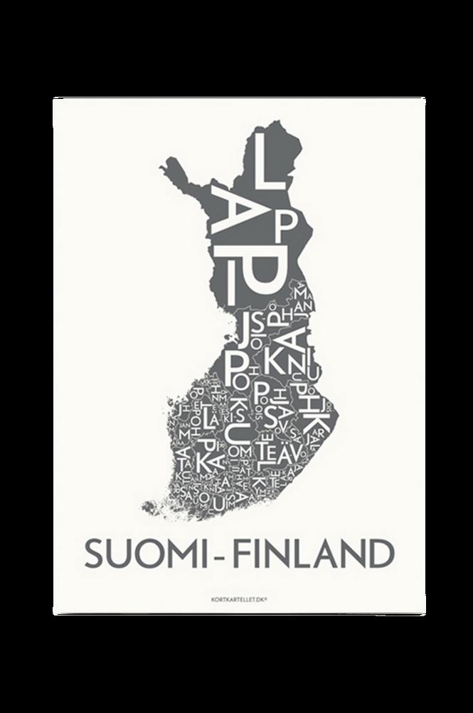 Poster Suomi-Finland 50×70 cm