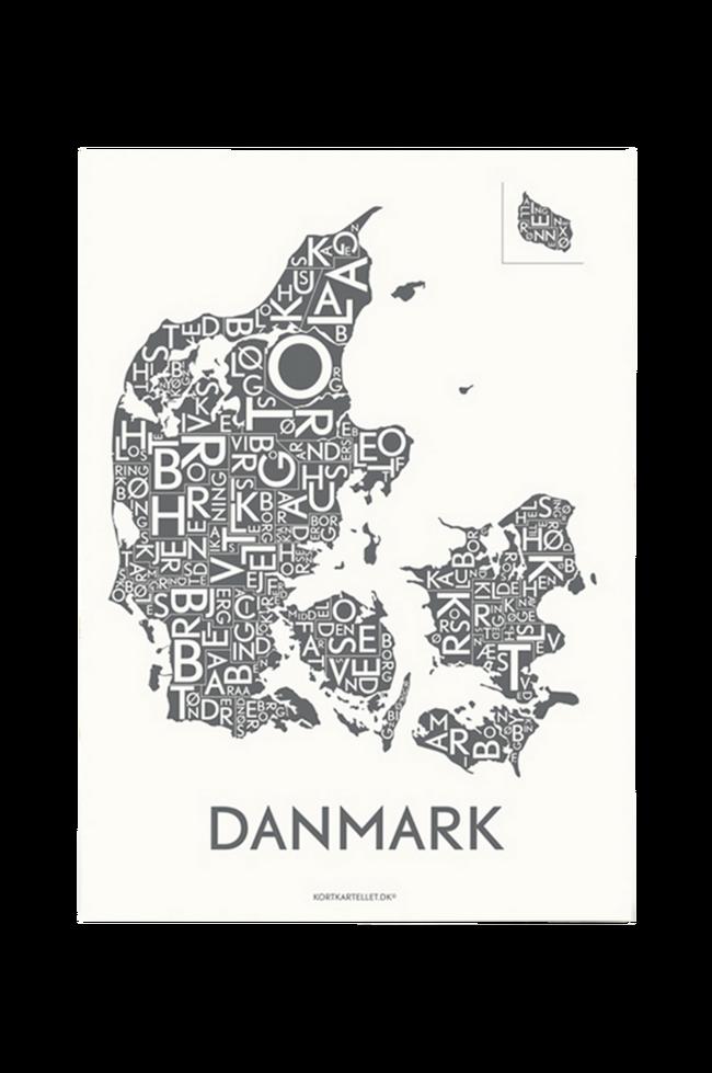 Bilde av Poster Danmark 50x70 cm