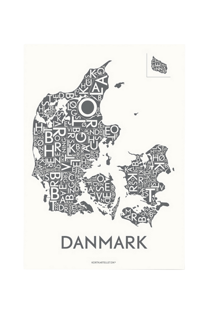 Poster Danmark 50×70 cm