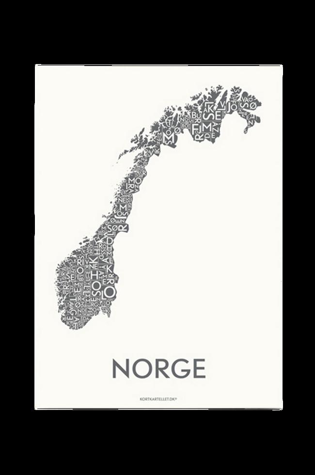 Bilde av Poster Norge 50x70 cm