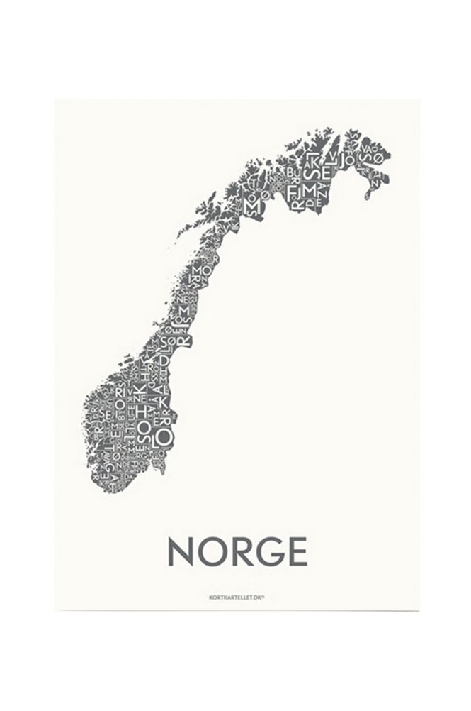 Poster Norge 50×70 cm