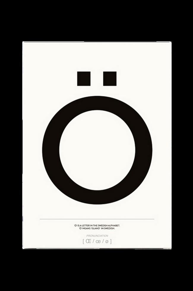 Bilde av Poster Ö 50x70 cm