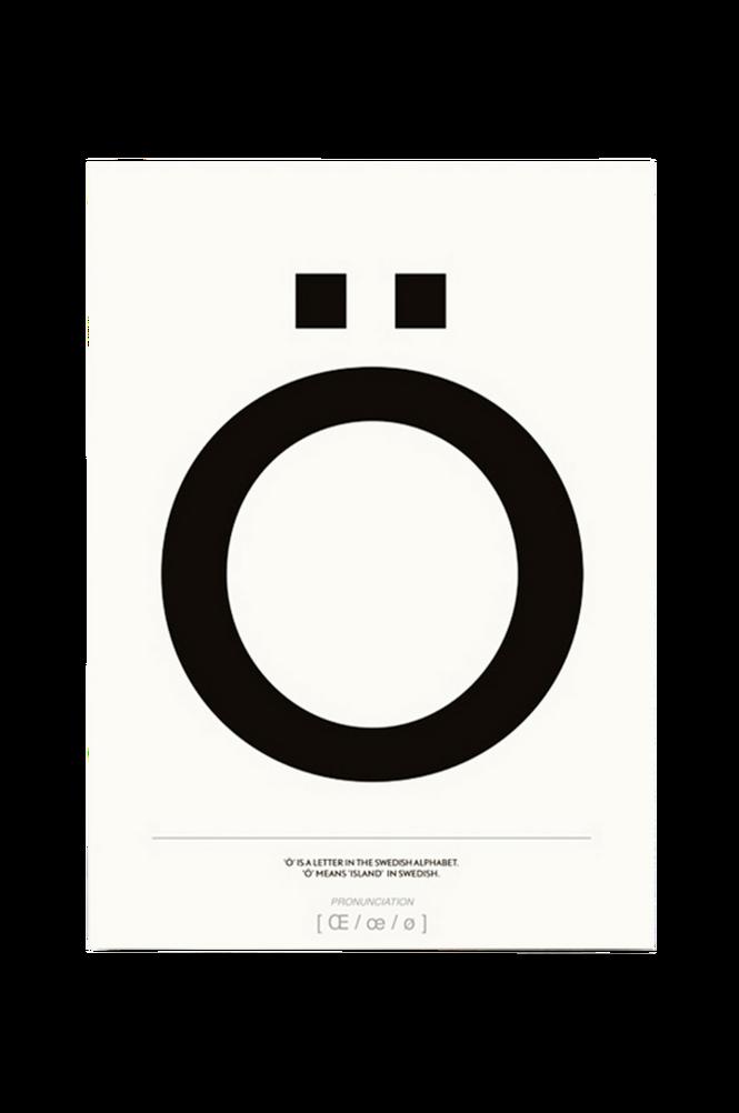 Poster Ö 50×70 cm