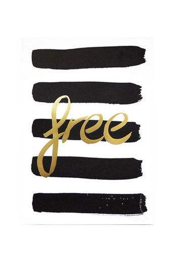Free-juliste, A3