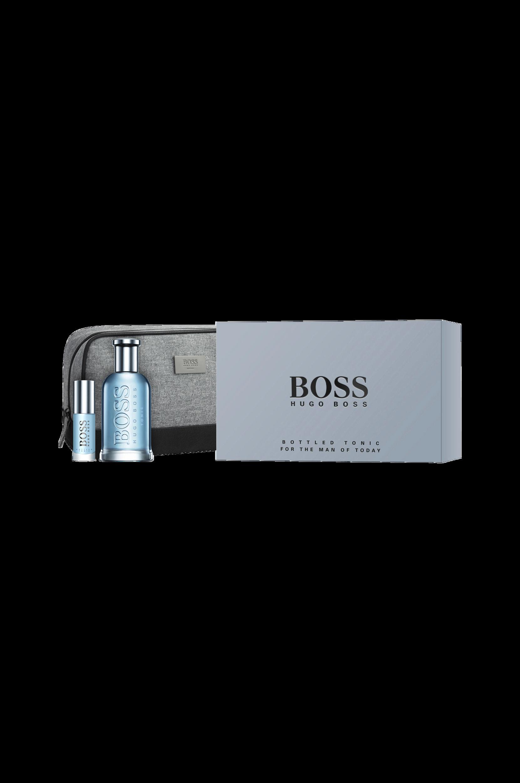 Boss Bottled Tonic EdT 100 ml + Portable Spray 8 ml + Toiletry Bag -lahjapakkaus