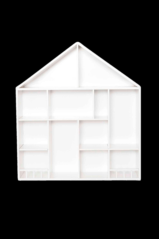 Pieni talohylly, valkoinen