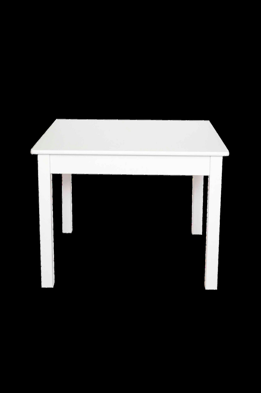 Nelikulmainen pöytä, Valkoinen