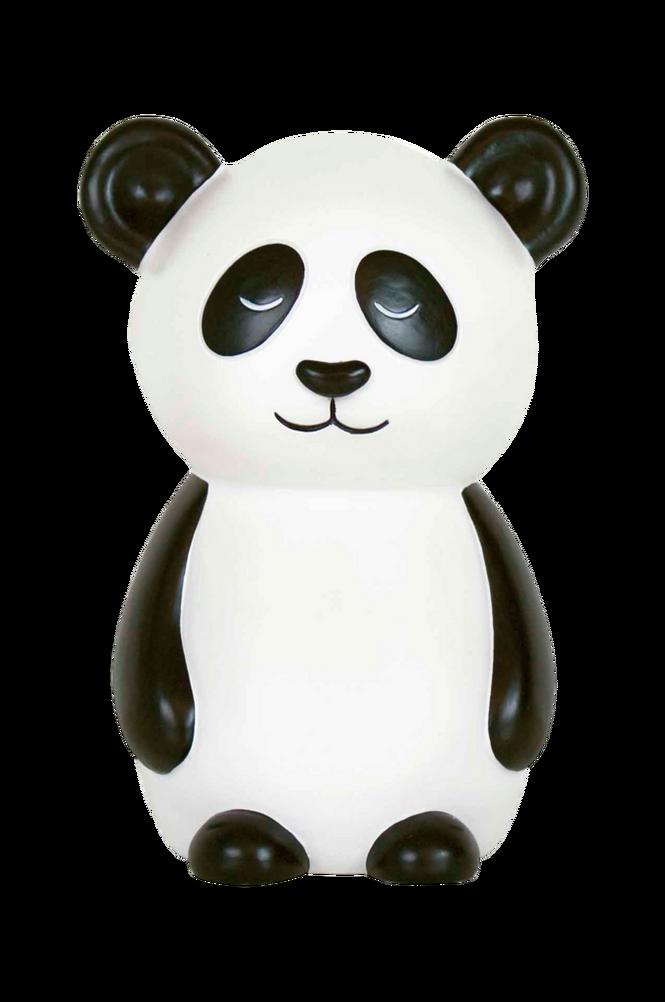 Nattlampa Panda Svart/Vit