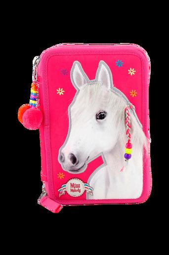 Trippel häst -penaali, roosa