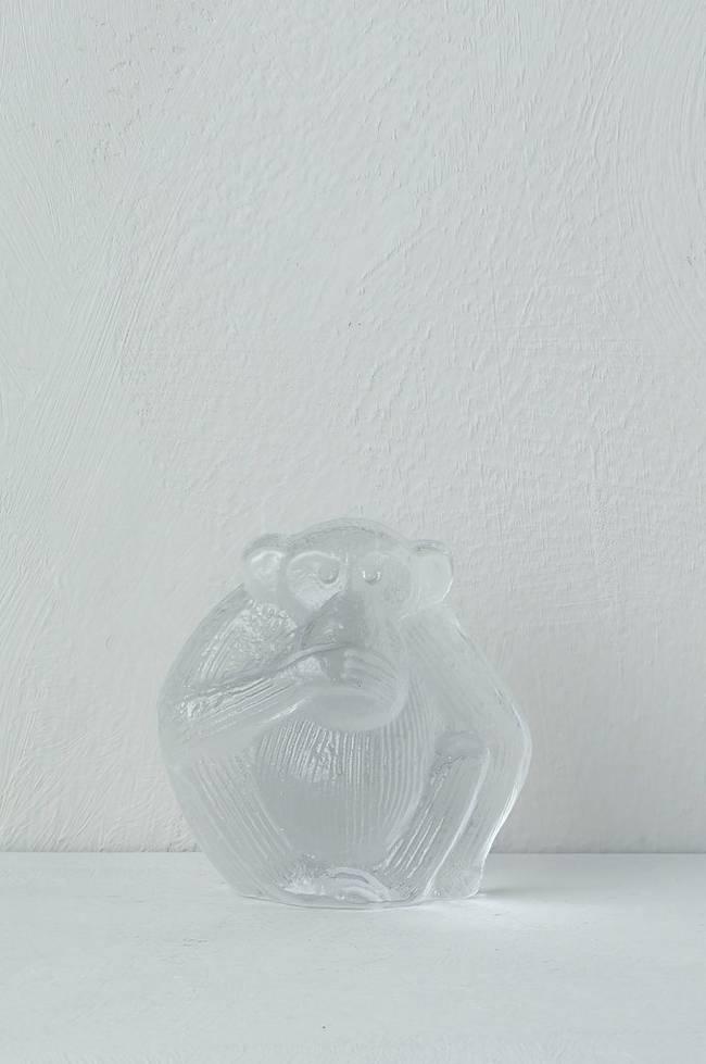 Bilde av Ape i glass, Lisa Larsson Royal Krona høyde 8,5 cm - Klart glass
