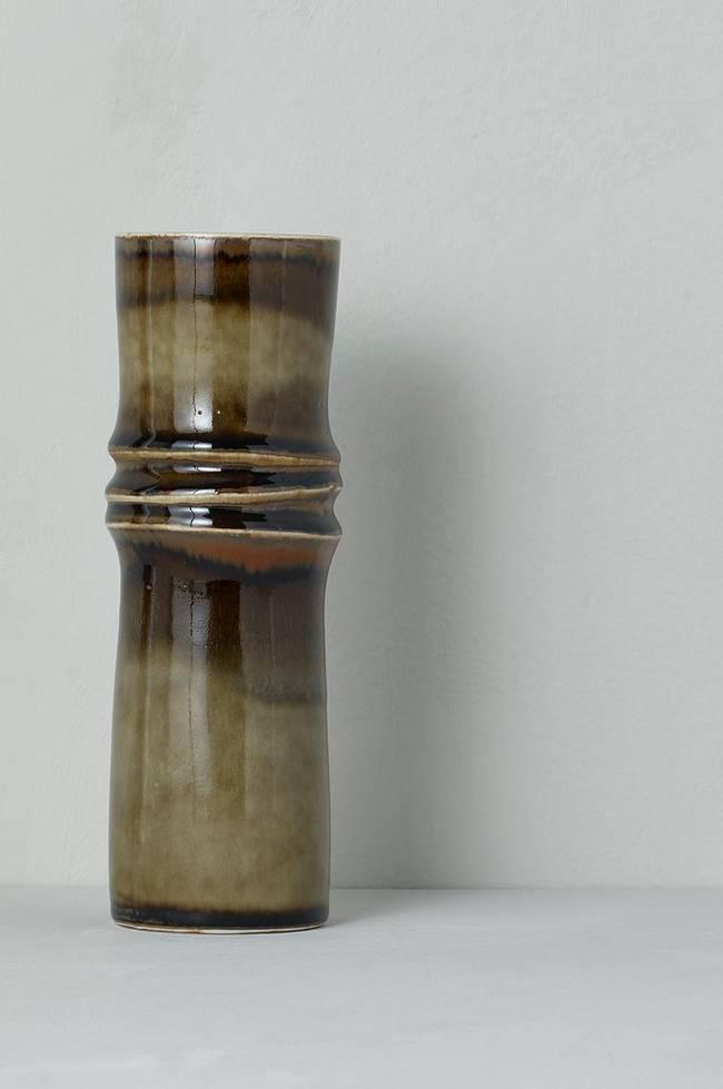 Bilde av Vase Bamboo, Olle Alberius Rörstrand, høyde 25 cm - Brun