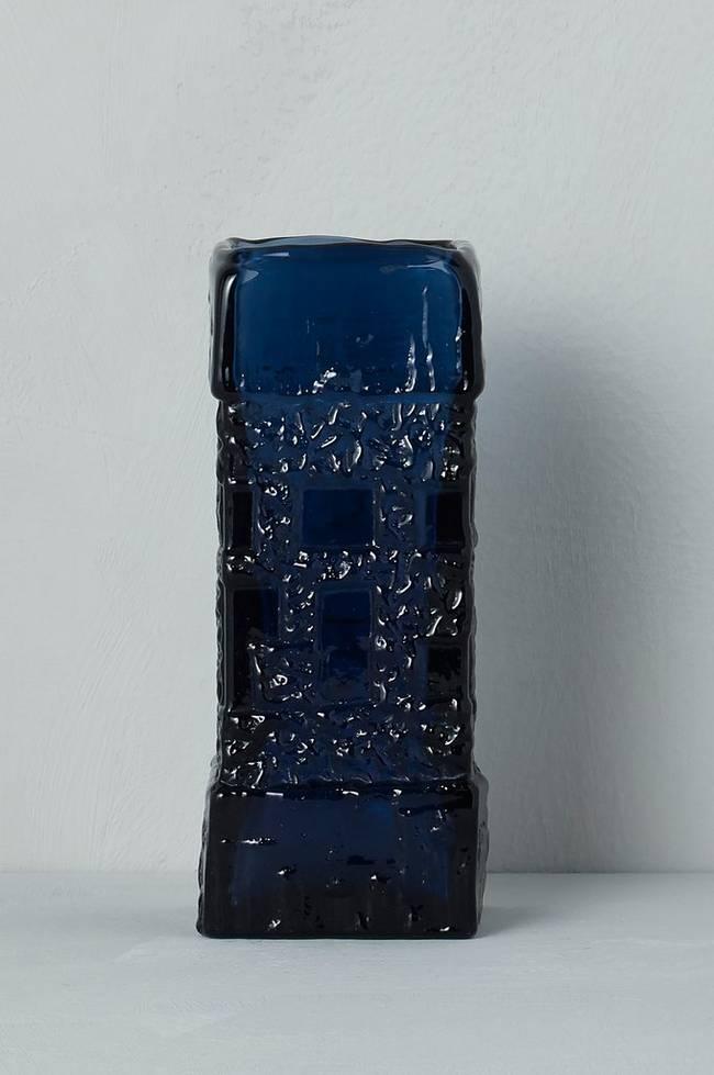 Bilde av Vase Ruda Glasbruk Göte Augustsson, høyde 18 cm - Blå