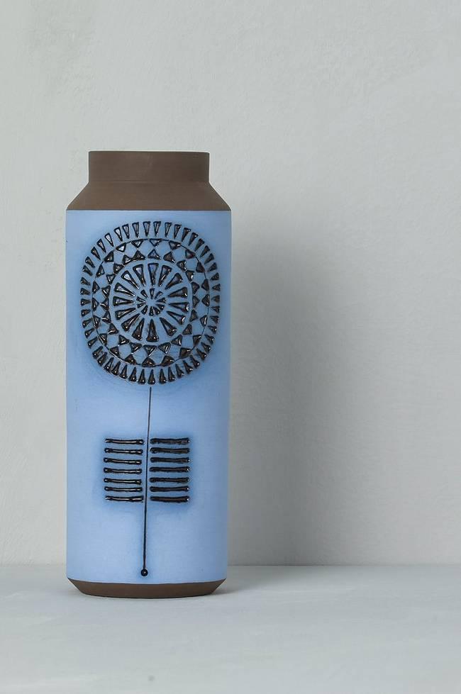 Bilde av Vase Alingsås Keramik, høyde 23,5 cm - Brun