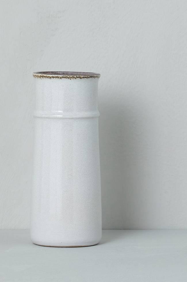 Bilde av Vase Strehla Keramik, høyde 17,5 cm - Hvit + Brun