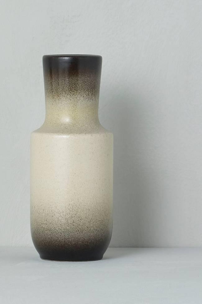 Bilde av Vase Steuler Keramik, høyde 20 cm - Svart + beige
