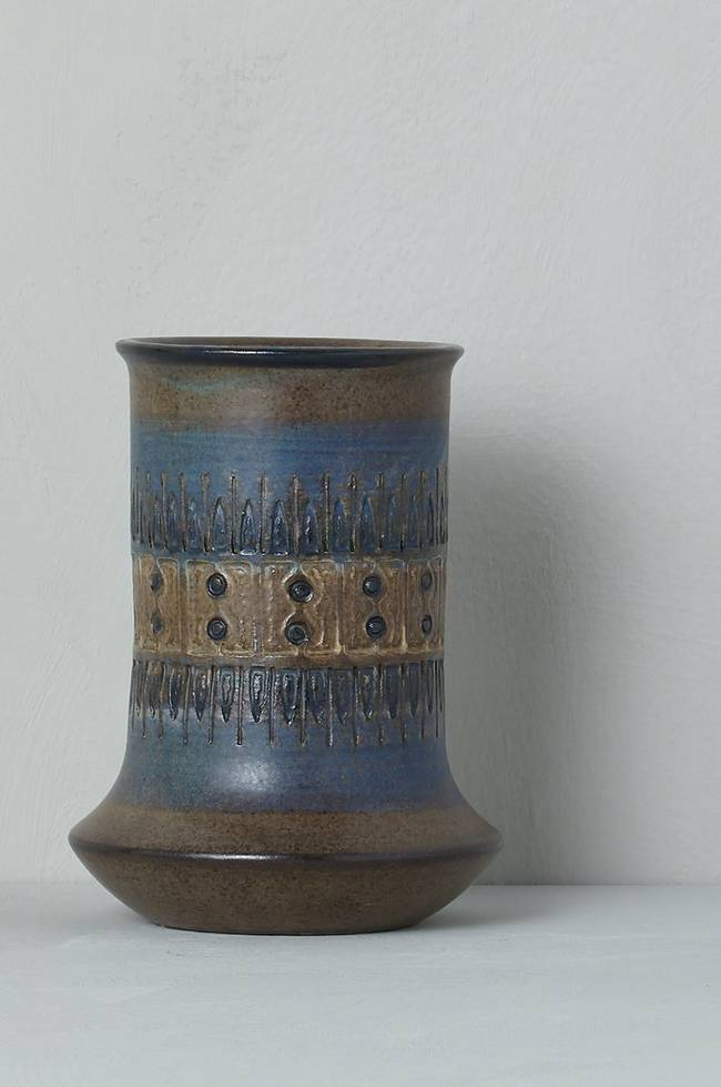 Bilde av Vase Alingsås Keramik Ulla Winblad, høyde 16 cm - Brun