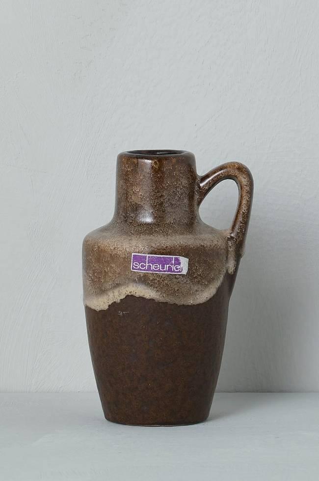 Bilde av Vase Scheurich, høyde 13,5 cm - Brun