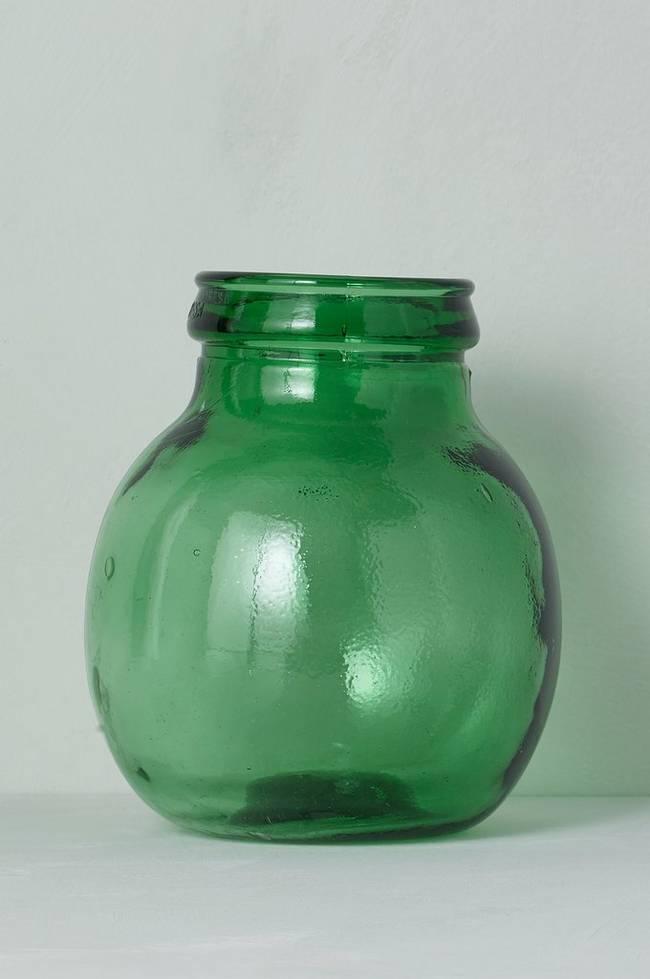 Bilde av Vase av glass, høyde 24 cm - Grønn
