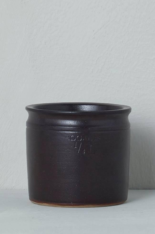 Bilde av Krukke Höganäs 1/4 l, diameter 9 cm - Brun