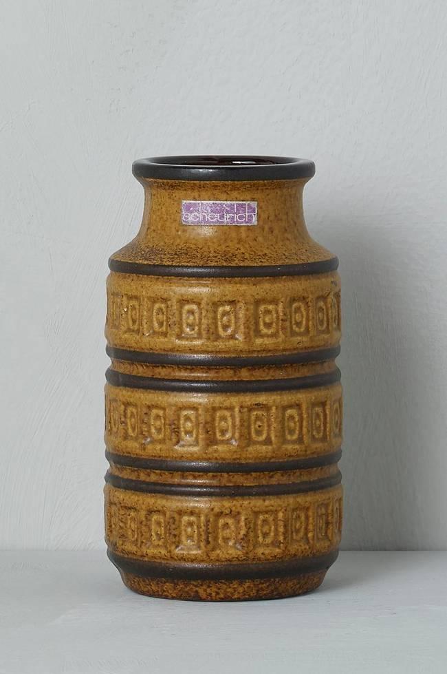 Bilde av Vase Scheurich, høyde 15 cm - Brun