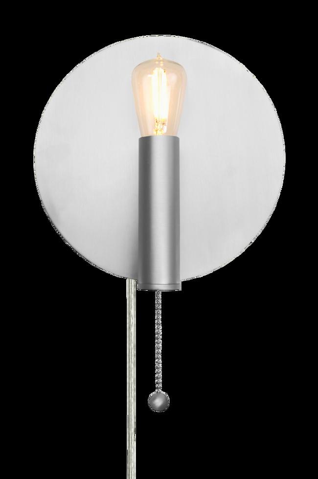 Bilde av Vegglampe Art Deco Børstet Stål