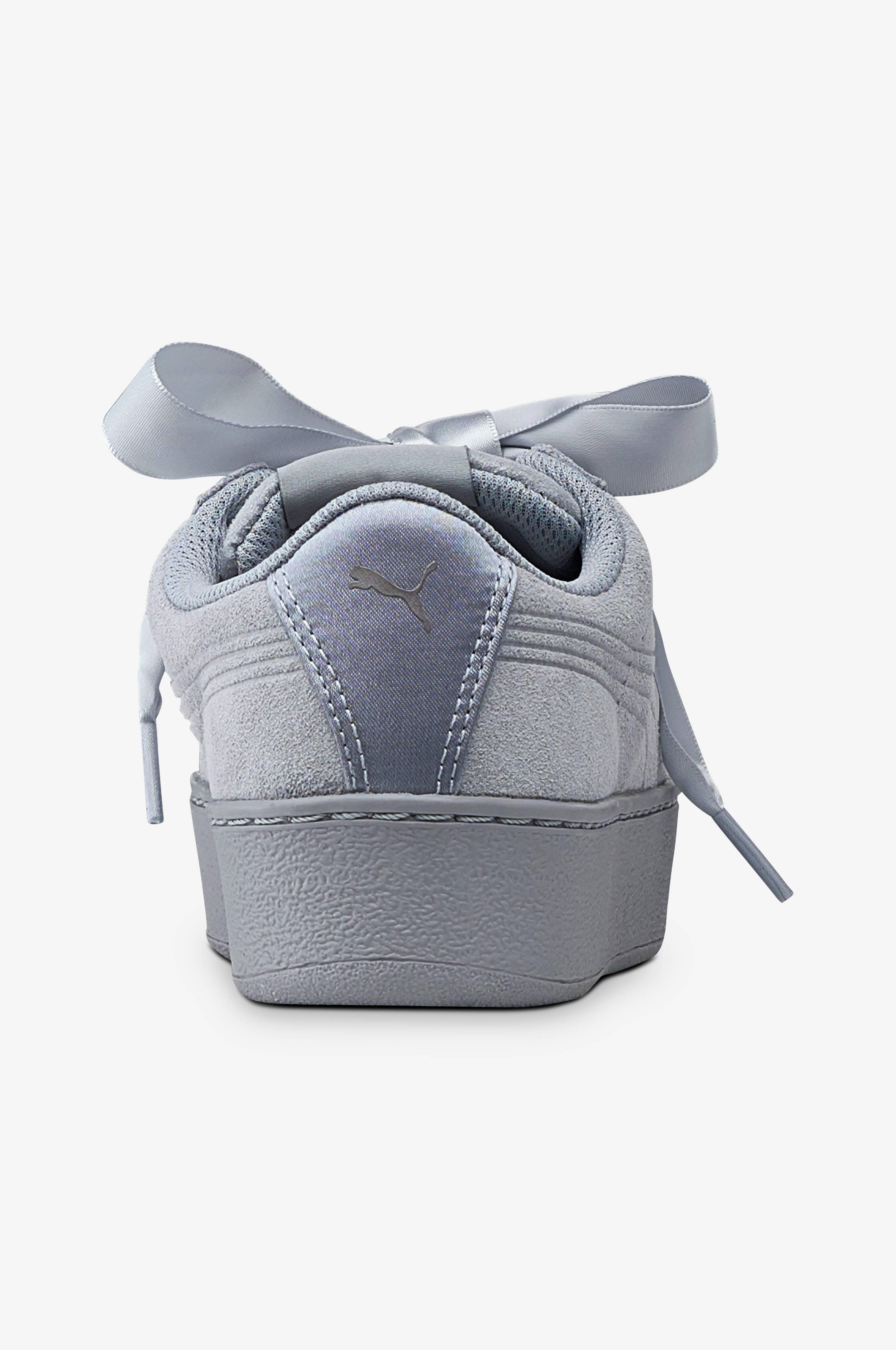 Puma Sneakers Vikky Platform Ribbon S Grå Dame Ellos.no