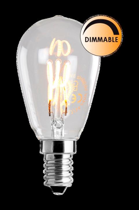 Ljuskälla E14 LED Filament Klot Klar 1W – Globen lighting
