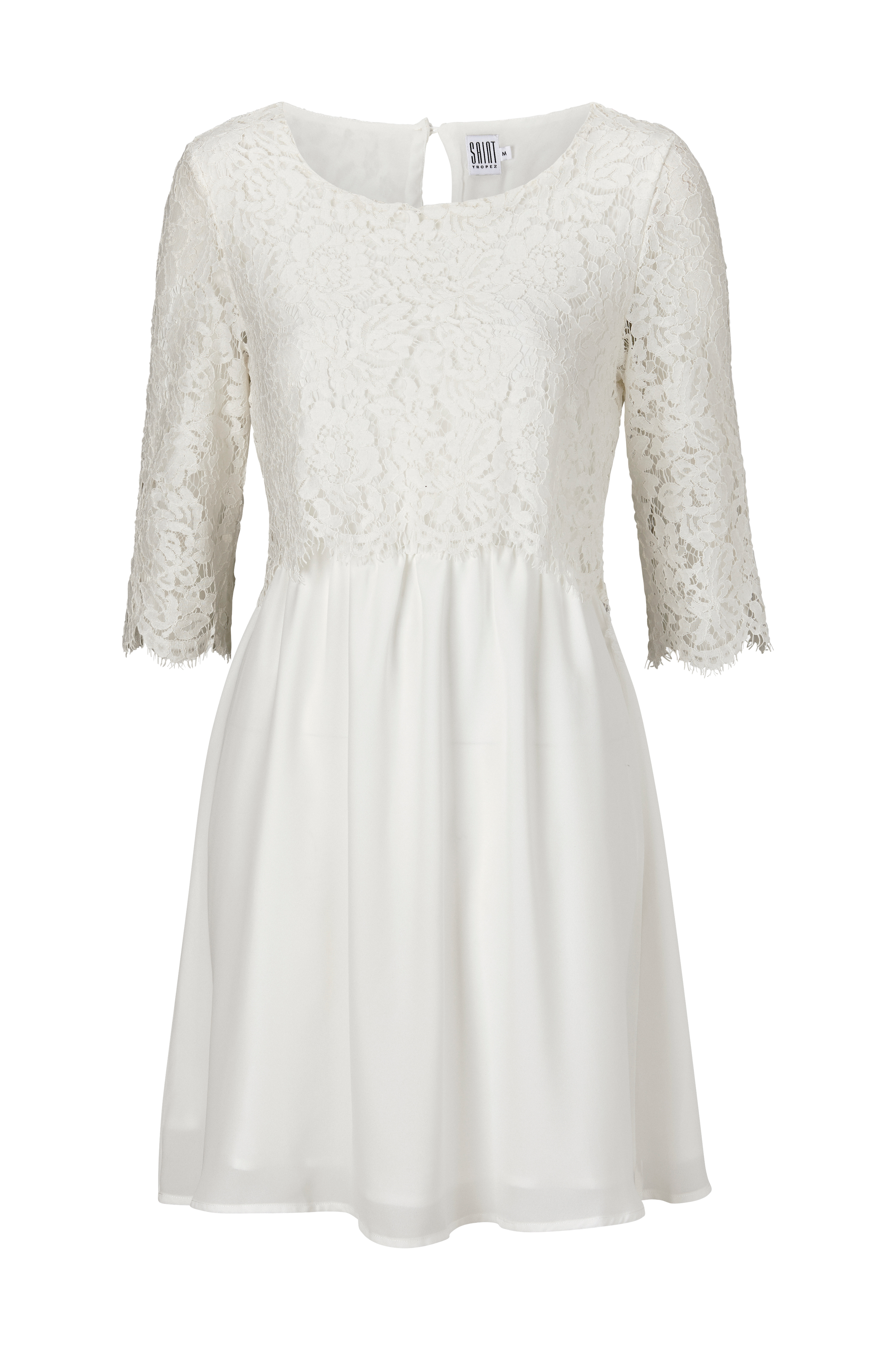 3b0a651f4 Saint Tropez Kjole Party Dress W Lace - Hvid - Dame - Ellos.dk