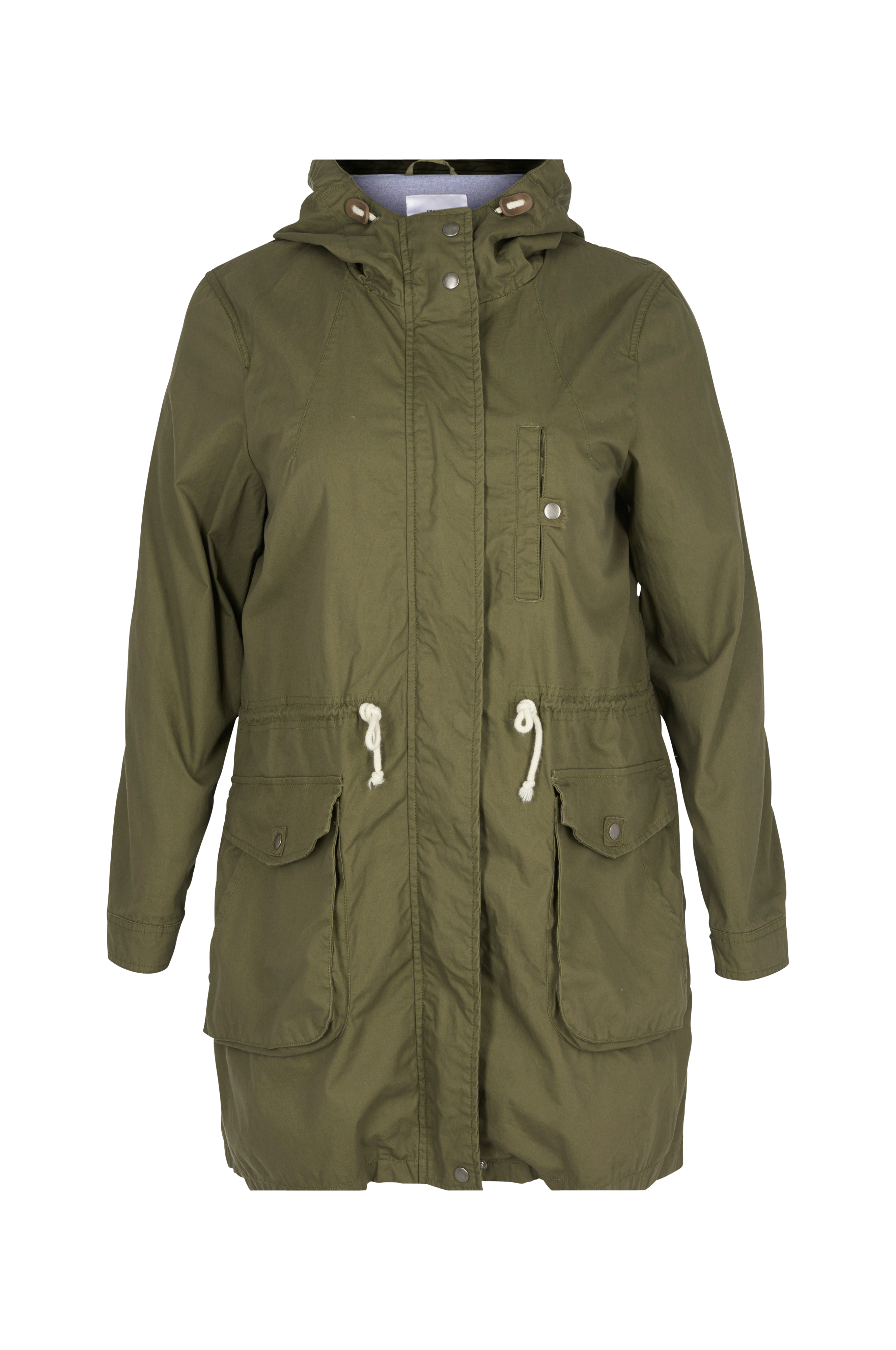 Dusty parka jacket   7238393   Mørk grønn   BikBok   Norge