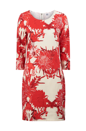 Big Flower Jersey Dress -mekko