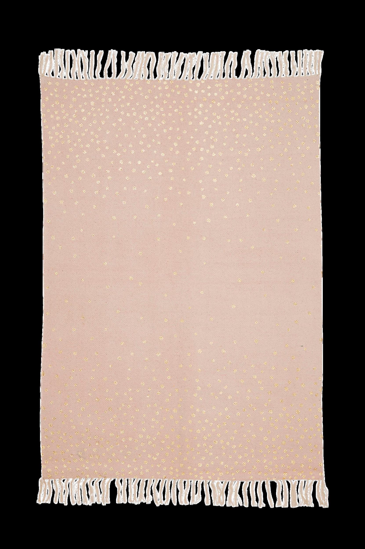 Bomull-matto 90x120 cm, puuteri/kulta