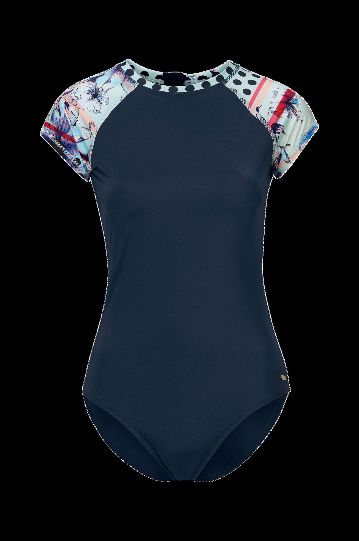 Pop Surf Short Sleeve One Piece Rashguard -uimapuku
