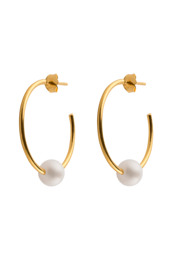 Earrings Pearl hoops