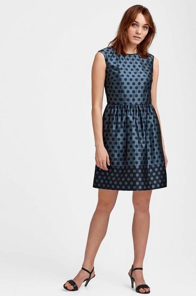 Esprit Kjole Big Dot Jacquard Dress