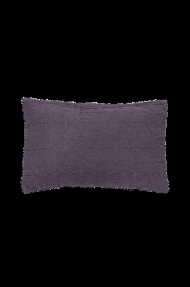Bilde av Pute med trekk av quiltet lin