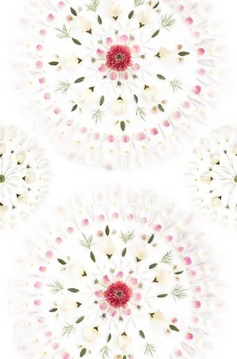 Flower tiles tapetti