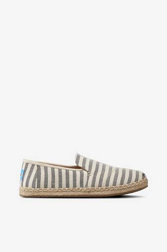 Deconstructed Alpargata Rope, Black Stripes -espadrillot