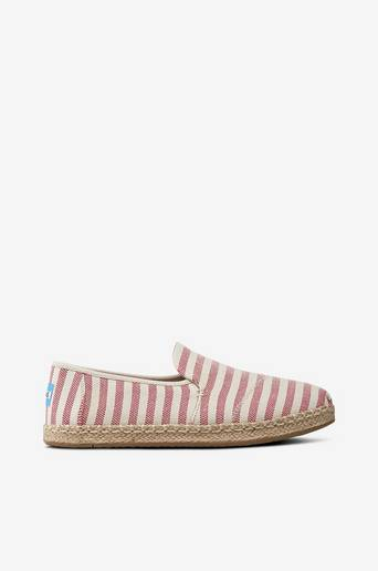 Deconstructed Alpargata Rope, Red Stripes -espadrillot