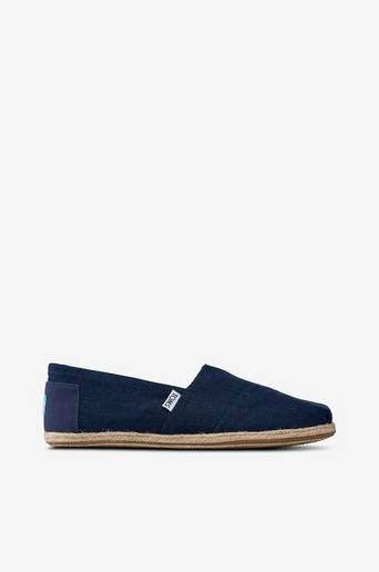 Classic Navy Linen Rope Sole -espadrillot