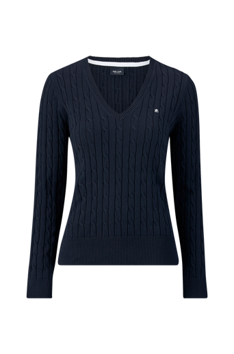 Cable Pullover V-neck -neulepusero
