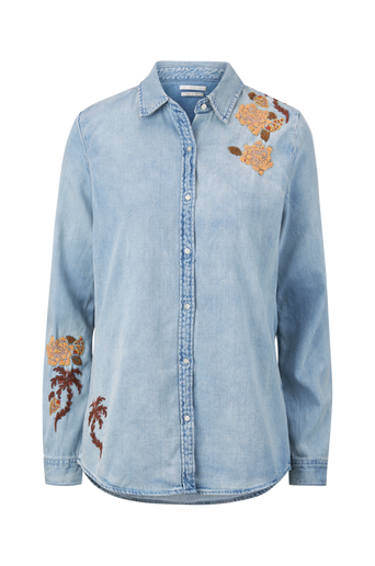 Light Wash Denim Shirt -farkkupaita