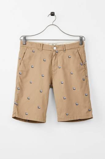 Embroidered Chino Shorts -shortsit