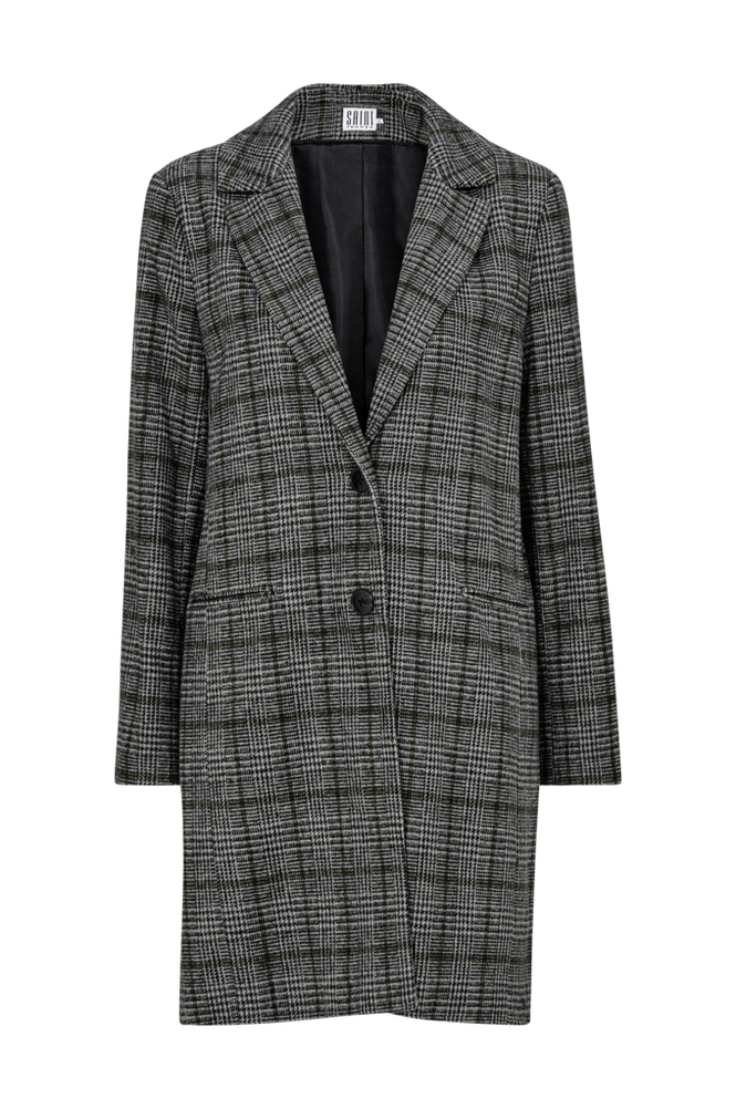 Saint Tropez Frakke Check Coat