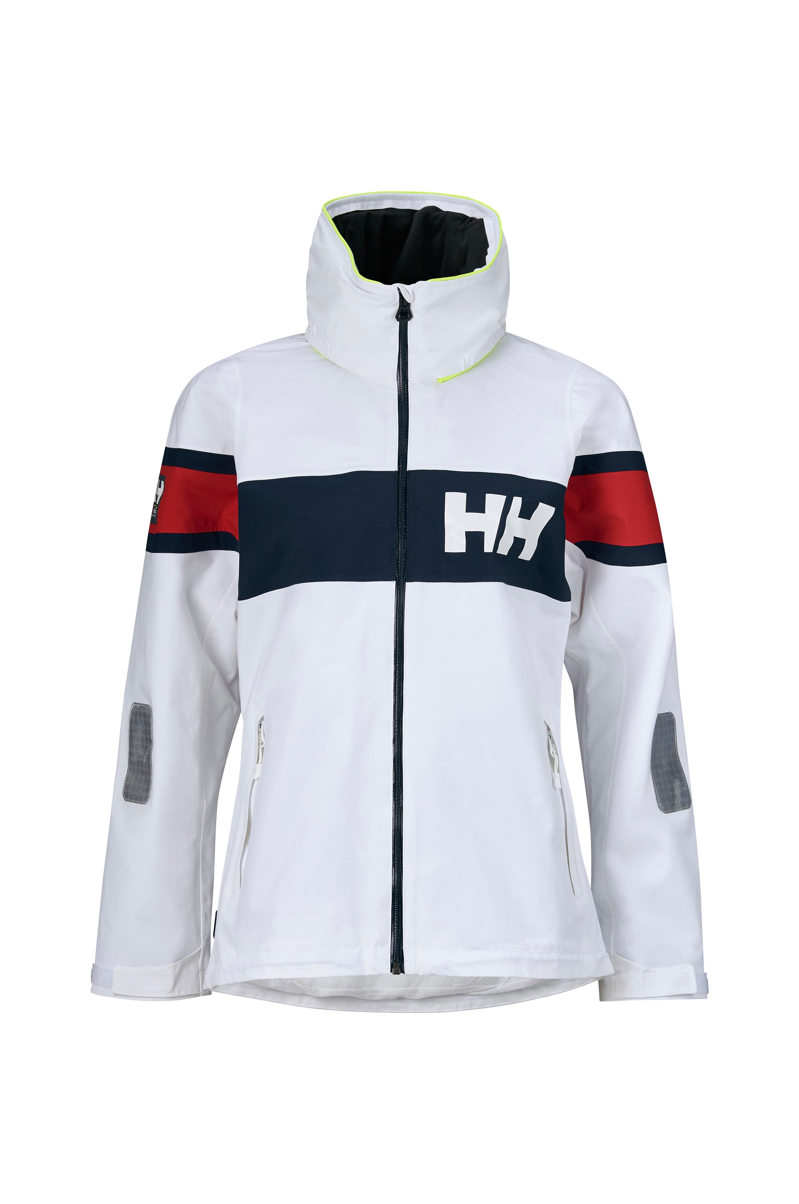 cc59deb03 Helly Hansen Jakke W Salt Flag Jacket - Hvid - Dame - Ellos.dk
