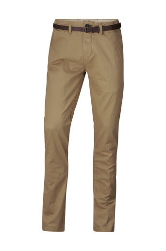 Chino Pants Belt Stretch Twill -housut